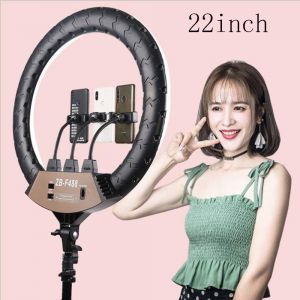 22-Inch Selfie Ring Light Makeup, LED Circle Ringlight With Remote & Tripod Stand