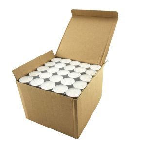 White Tealight Smokeless Diya Unscented Candles - 100 Bulk Pack - 4.5 Hour Burn Time