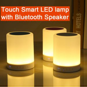 Portable Night Touch Wireless Bluetooth Light Lamp Speaker with Color Changing function and USB port SD card & AUX Supported
