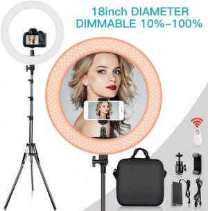 18-Inch Ring Light with 9 feet Height Light Stand Kit