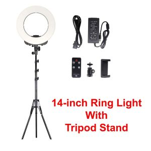 Ring Light – 14 inch Dimmable Light Ring 3200K-5600K Tripod Stand With Remote