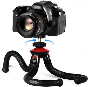 "12"" inch Flexible Camera Tripod Stand Bendable Travel Tripods for DSLR Camera Smartphone"