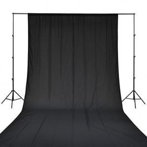 Photography Backdrop Background Cloth for Photo Shoot Portrait Video Shooting with Carry Bag (Black)