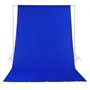 Photography Backdrop Background Cloth for Photo Shoot Portrait Video Shooting with Carry Bag (Blue)
