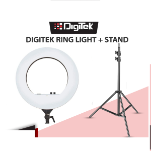 DIGITEK 18 inch Professional LED Ring Light (DRL-18) With 9 Feet Heavy Stand (Combo)