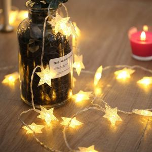 28 LED's 10 M Star Fairy String Light for Diwali Festival Home, Party, Christmas, Garden Decoration