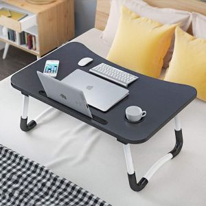 Foldable Laptop Bed Table Lap Desk Stand, Adjustable & Portable Notebook Stand Holder
