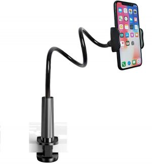 Gooseneck Phone Holder, Lazy Phone Stand with Flexible Long Arm and Bracket Grip for Smartphones & Tablet, 4.0-6.7 Inch Devices