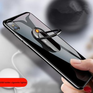 Cigarette Lighter Electric for Men With Mobile Phone Holder Lighter (Multicolor)