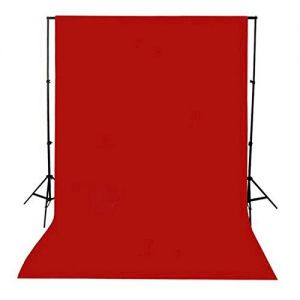 Photography Backdrop Background Cloth for Photo Shoot Portrait Video Shooting with Carry Bag (Red)