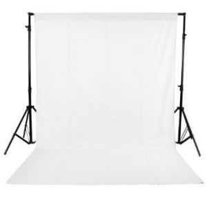 Photography Backdrop Background Cloth for Photo Shoot Portrait Video Shooting with Carry Bag (White)